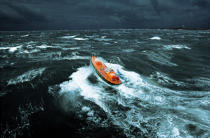 Ouessant Lifeboat (Brittany, 29). © Philip Plisson / Pêcheur d'Images / AA00037 - Photo Galleries - Storms