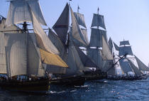 Fleet of Tall Ships during Brest 96. © Philip Plisson / Pêcheur d'Images / AA00688 - Photo Galleries - The major maritime celebrations in Brest