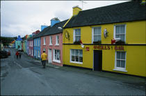 Eyeries street. © Philip Plisson / Pêcheur d'Images / AA02356 - Photo Galleries - Ireland, the green island