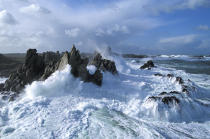 Gale on Ouessant © Philip Plisson / Pêcheur d'Images / AA03120 - Photo Galleries - Storms