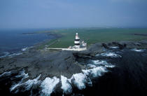 Le phare de Hook Point. © Philip Plisson / Pêcheur d'Images / AA05262 - Nos reportages photos - Phares Irlande