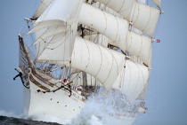 Sous le vent du Statsraad Lehmkuhl. © Philip Plisson / Pêcheur d'Images / AA06046 - Photo Galleries - Tall ships