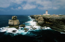 The Cabo Cavoeiro lighthouse in Portugal. © Philip Plisson / Pêcheur d'Images / AA08580 - Photo Galleries - Portuguese Lighthouses