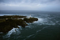 Le phare de Fanad Head en Irlande. © Philip Plisson / Pêcheur d'Images / AA08589 - Nos reportages photos - Phare [Irl]