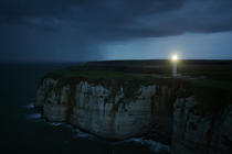 Morning at Etretat. © Philip Plisson / Pêcheur d'Images / AA08971 - Photo Galleries - French Lighthouses