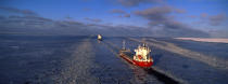 Maritime route in the Baltic Sea. © Philip Plisson / Pêcheur d'Images / AA09119 - Photo Galleries - Icebreaker in the Baltic