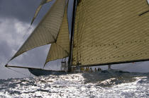 Tuiga during the Nioulargue of 1993. © Philip Plisson / Pêcheur d'Images / AA09852 - Photo Galleries - Classic Yachting