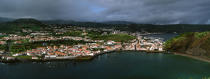 View on Horta in the Azores. © Philip Plisson / Pêcheur d'Images / AA10800 - Photo Galleries - Azores [The]
