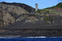 Dos Capelinhos point on Faial in the Azores. © Philip Plisson / Pêcheur d'Images / AA10883 - Photo Galleries - Azores [The]