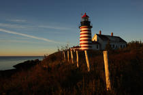 Quoddy Head lighthouse in the State Maine. © Philip Plisson / Pêcheur d'Images / AA10916 - Photo Galleries - American Lighthouses