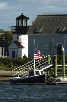 Hyannis light in Massachusetts. © Philip Plisson / Pêcheur d'Images / AA10950 - Photo Galleries - American Lighthouses