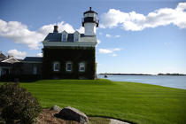 Lighthouse in Connecticut. © Philip Plisson / Pêcheur d'Images / AA11452 - Photo Galleries - American Lighthouses