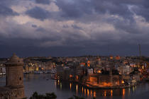 Sight of the ramparts of Valletta. © Philip Plisson / Pêcheur d'Images / AA11680 - Photo Galleries - Colours of Malta