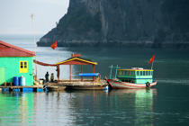 Dwelling in Along Bay. © Philip Plisson / Pêcheur d'Images / AA12441 - Photo Galleries - Along Bay, Vietnam