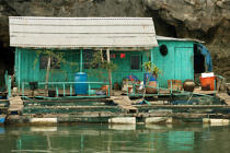 A dwelling in a village of Along Bay. © Philip Plisson / Pêcheur d'Images / AA12471 - Photo Galleries - Along Bay, Vietnam