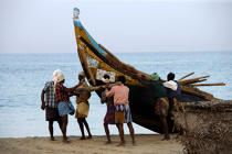 On the beach of Kovallam. © Philip Plisson / Pêcheur d'Images / AA12657 - Photo Galleries - Fishermen of the world