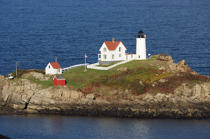Cap Neddick Light © Philip Plisson / Pêcheur d'Images / AA13076 - Photo Galleries - American Lighthouses