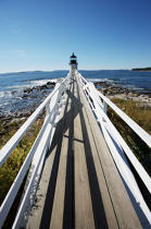 Marshall Point Light in Maine. © Philip Plisson / Pêcheur d'Images / AA13118 - Photo Galleries - American Lighthouses