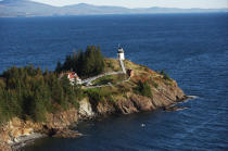 Owls Head Light in Maine. © Philip Plisson / Pêcheur d'Images / AA13213 - Photo Galleries - Autumn Colors in New England