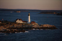 Portland Head Light in Maine. © Philip Plisson / Pêcheur d'Images / AA13383 - Photo Galleries - American Lighthouses
