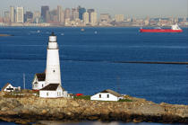 Boston Harbor Light. © Philip Plisson / Pêcheur d'Images / AA13526 - Photo Galleries - American Lighthouses