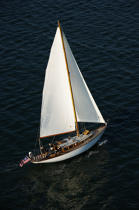 Sailing boat in Massachusetts. © Philip Plisson / Pêcheur d'Images / AA13733 - Photo Galleries - Massachusetts