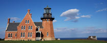 Block Island Southeast Light in Rhode Island. © Philip Plisson / Pêcheur d'Images / AA13778 - Photo Galleries - American Lighthouses