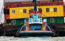 Tug in Hong Kong. © Philip Plisson / Pêcheur d'Images / AA14162 - Photo Galleries - Hong Kong, a city of contrasts