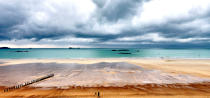 Sillon beach in Saint-Malo. © Philip Plisson / Pêcheur d'Images / AA16252 - Photo Galleries - Ille & Vilaine