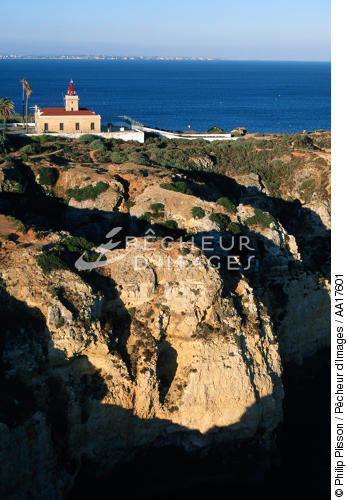 Lighthouse of Ponta da Piedade, Algarve, Portugal - © Philip Plisson / Pêcheur d'Images / AA17601 - Photo Galleries - Portuguese Lighthouses