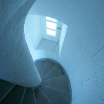 The stairs of the lighthouse Teignouse. © Philip Plisson / Pêcheur d'Images / AA17701 - Photo Galleries - French Lighthouses