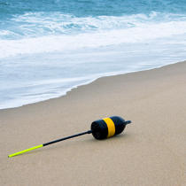 Buoy washed up on a beach on Cape Cod. © Philip Plisson / Pêcheur d'Images / AA17753 - Photo Galleries - Massachusetts