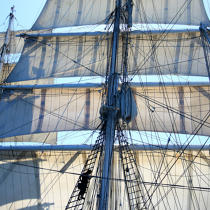 In the mast of Belem. © Philip Plisson / Pêcheur d'Images / AA17790 - Photo Galleries - Tall ships