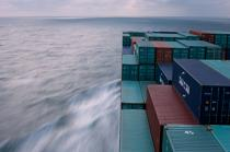 Container ship in the North Sea. © Philip Plisson / Pêcheur d'Images / AA18384 - Photo Galleries - Containerships, the excess
