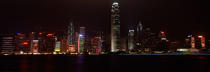 Hong Kong by night. © Philip Plisson / Pêcheur d'Images / AA19380 - Photo Galleries - Hong Kong, a city of contrasts