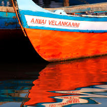Bow of a fishing boat in Cochin © Philip Plisson / Pêcheur d'Images / AA19403 - Photo Galleries - Bow