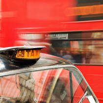 London cab. © Philip Plisson / Pêcheur d'Images / AA19815 - Photo Galleries - Urban