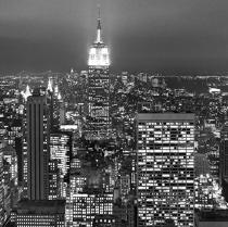 New-York by night. © Philip Plisson / Pêcheur d'Images / AA19825 - Photo Galleries - Urban