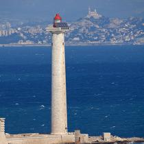The lighthouse Planier to Marseille. © Philip Plisson / Pêcheur d'Images / AA21951 - Photo Galleries - French Lighthouses