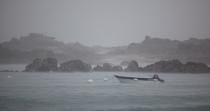 Rain on Chausey. © Philip Plisson / Pêcheur d'Images / AA22393 - Photo Galleries - The Mont-Saint-Michel Bay and Chausey