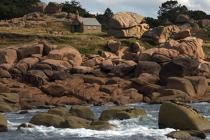 Ploumanac'h on the pink granite coast. © Philip Plisson / Pêcheur d'Images / AA23418 - Photo Galleries - From Ploumanac'h to the Saint-Mathieu Point