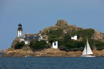 Louet Island in the Bay of Morlaix. © Philip Plisson / Pêcheur d'Images / AA24105 - Photo Galleries - French Lighthouses
