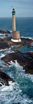 Roches Douvres lighthouse © Philip Plisson / Pêcheur d'Images / AA25040 - Photo Galleries - Vertical panoramic