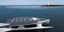 The Tùranor Planetsolar © Philip Plisson / Pêcheur d'Images / AA27468 - Photo Galleries - Le Tùranor Planetsolar
