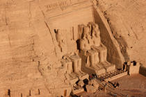 The temple of Abu Simbel © Philip Plisson / Pêcheur d'Images / AA27609 - Photo Galleries - Egypt from above