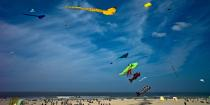 International Meetings of kites in Berck sur Mer [AT] © Philip Plisson / Pêcheur d'Images / AA28710 - Photo Galleries - Nord-Pas-de-Calais