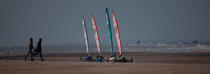 Grand Prix Tanks sailing Omaha Beach [AT] © Philip Plisson / Pêcheur d'Images / AA28736 - Photo Galleries - Sand yachting at Omaha Beach