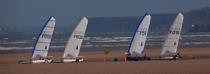 Grand Prix Tanks sailing Omaha Beach [AT] © Philip Plisson / Pêcheur d'Images / AA28751 - Photo Galleries - Sand yachting at Omaha Beach