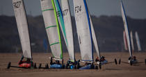 Grand Prix Tanks sailing Omaha Beach [AT] © Philip Plisson / Pêcheur d'Images / AA28756 - Photo Galleries - Sand yachting at Omaha Beach
