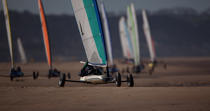 Grand Prix Tanks sailing Omaha Beach [AT] © Philip Plisson / Pêcheur d'Images / AA28760 - Photo Galleries - Sand yachting at Omaha Beach